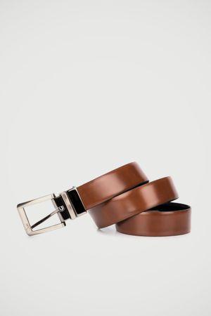 Cinturón doble faz Memories de cuero para hombre