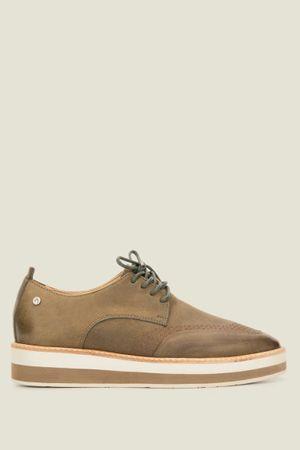 Zapatos memphis de cuero con cordón