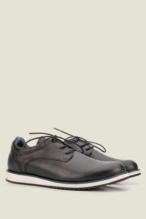 Zapatos piero de cuero con cordón