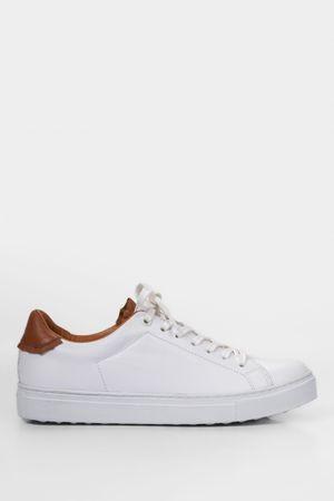 Sneakers casual de cuero combinados