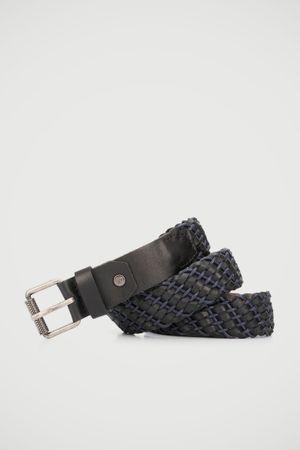 Cinturón unifaz lienzo de cuero