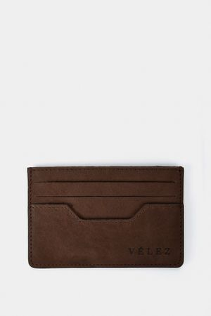 Porta tarjetas de cuero vintage