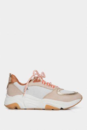 Sneakers deportivos flumina de cuero para mujer combinados