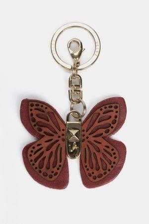 Llavero butterfly de cuero