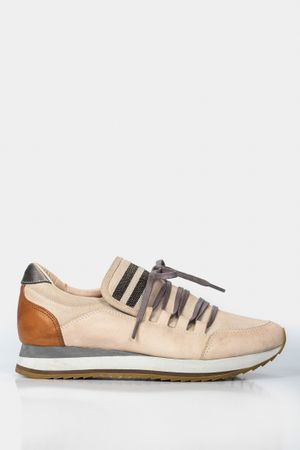 Sneakers plataforma de cuero para mujer detalle millaré