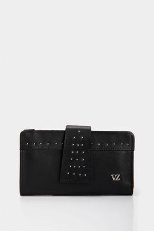 Billetera basic de cuero para mujer mini taches decorativos