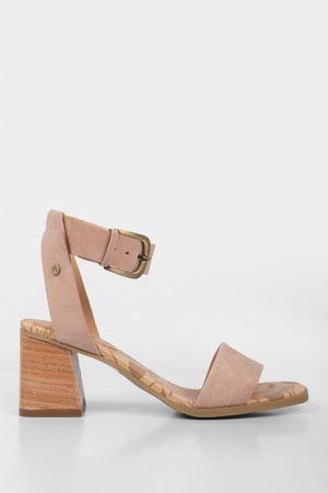 Sandalia tacón malú de cuero