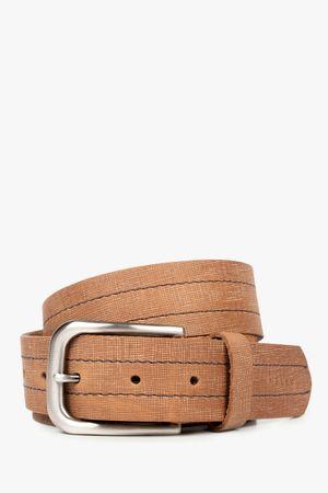 Cinturón unifaz de cuero costuras