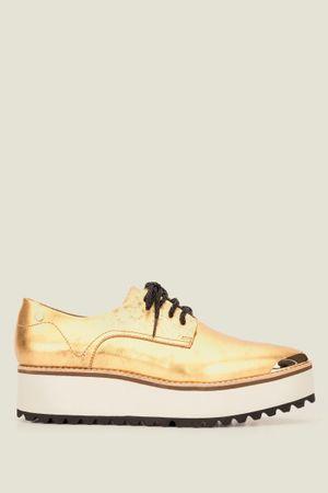 Zapatos cristal mineralia de cuero con cordón