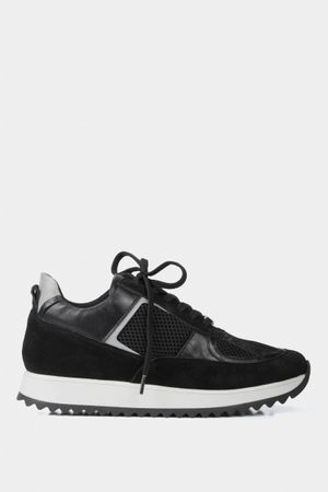 Sneakers deportivos de cuero para mujer combinados