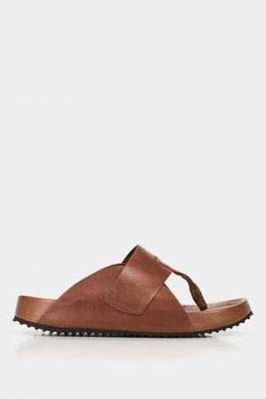 Sandalia tres puntadas sauce de cuero para hombre suela liviana