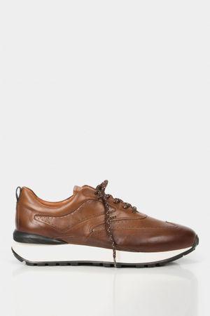 Sneakers casuales kament de cuero para hombre efecto envejecido