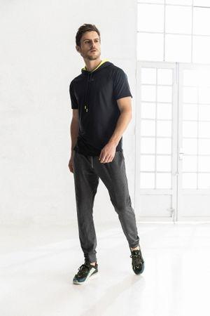 T-shirt para hombre game Fly Upcapucha interna contraste neón
