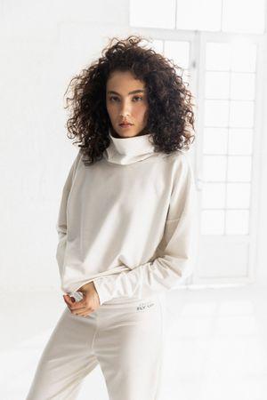Sweater Buzo para mujer soft cuello tortuga